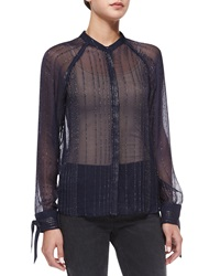 Zadig And Voltaire Chai Metal Sheer Top