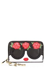 Alice Olivia Avril Embellished Face And Flowers Wallet Multi