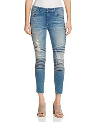 True Religion Halle Moto Jeans In Blue City