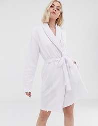 Boux Avenue Lightweight Waffle Robe In White White