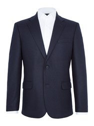 Paul Costelloe Price Textured Wool Rich Blazer Navy