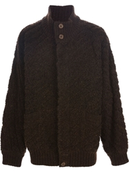 Missoni Vintage Oversized Knit Cardigan Brown
