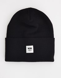 Wood Wood Tall Beanie Black