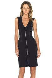 L'agence Eva Zip Front Dress Black