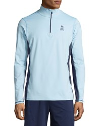 Psycho Bunny Quarter Zip Performance Jacket Blue Bell
