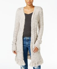 Lucky Brand Fringe Duster Cardigan Natural