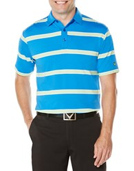 Callaway Performance Striped Polo Blue