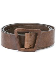 Ermanno Scervino Asymmetric Belt Brown