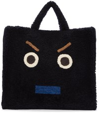 Fendi Blue Shearling Monster Tote