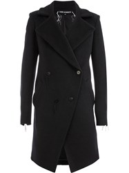 Cedric Jacquemyn Double Breasted Fitted Coat Black