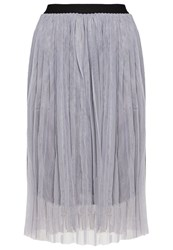 New Look Pleated Skirt Grey
