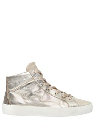 Crime 20Mm Metallic Leather And Suede Sneakers