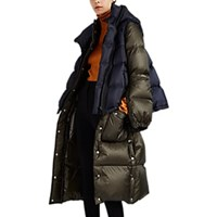 Sacai Vest Overlay Down Quilted Puffer Coat Green