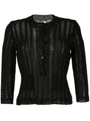 Chanel Vintage Long Sleeve Knitted Cardigan Black