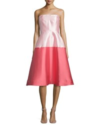 Erin Fetherston Waldorf Strapless Ombre Fit And Flare Dress Women's
