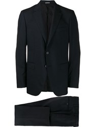 Lanvin Single Breasted Two Piece Suit Blue