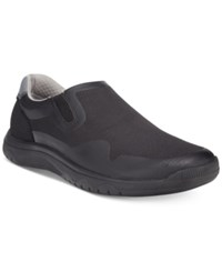 Clarks Men's Cloud Steppers Votta Free Casual Slip Ons Men's Shoes Black Synthetic
