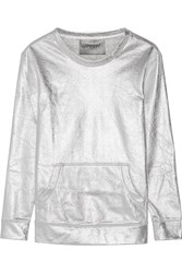 Norma Kamali Metallic Cotton Blend Sweatshirt