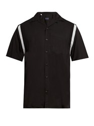 Lanvin Short Sleeved Twill Shirt Black
