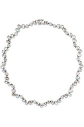 Larkspur And Hawk Caterina Garland Riviere Rhodium Dipped Quartz Necklace Silver