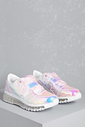 Forever 21 Y.R.U. Holographic Sneakers Blue Pink