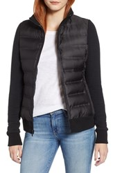 Marc New York Puffer Jacket With Knit Sleeves Black