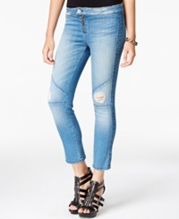 Guess Tango Ripped Cropped Skinny Jeans Dill Wash