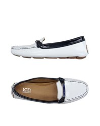 Ice Iceberg Footwear Moccasins Women Dark Blue