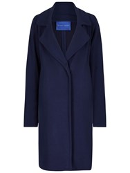 Winser London Crepe Jersey A Line Coat French Navy