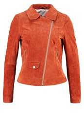 Freaky Nation Gina Leather Jacket Burnt Orange
