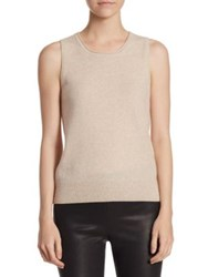 Saks Fifth Avenue Collection Roundneck Cashmere Tank Top Black Chanterelle Charcoal