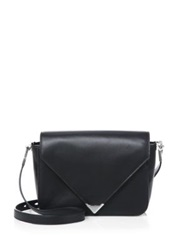 Alexander Wang Prisma Small Envelope Shoulder Bag Silvertone Black