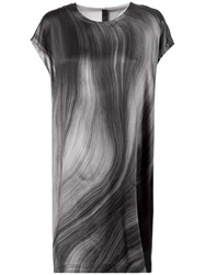 Ilaria Nistri Wave Print Shift Dress Black