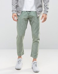 Asos Drop Crotch Trousers In Khaki Acid Wash Khaki Green