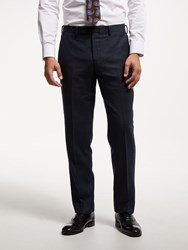 John Lewis Zegna Check Regular Suit Trousers Navy