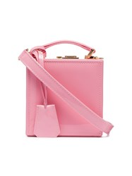 Natasha Zinko Pink Patent Leather Box Bag Pink And Purple