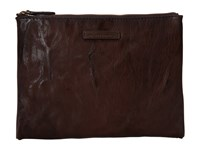Frye Michelle Tech Clutch Dark Brown Antique Soft Vintage Clutch Handbags Tan