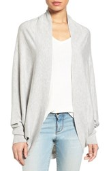 Nordstrom Women's Knit Cocoon Cardigan Grey Soft Heather
