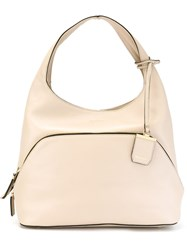 Dkny Large 'City Zip' Hobo Tote Nude And Neutrals