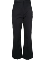 Ports 1961 Classic Cropped Trousers Blue