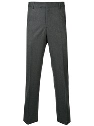 Gieves And Hawkes Tailored Trousers Wool Grey