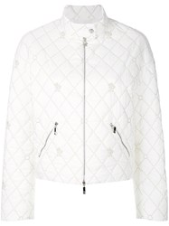 Moncler Gamme Rouge Quilted Jacket White