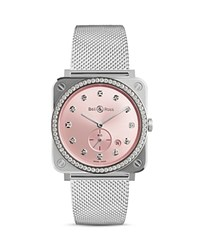Bell And Ross Br S Novarosa Diamond Watch 39Mm Pink Silver