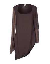 Oblique T Shirts Dark Brown