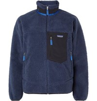 Patagonia Classic Retro X Shell Trimmed Fleece Jacket Navy
