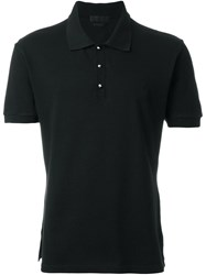 Alexander Mcqueen Stud Button Polo Shirt Black