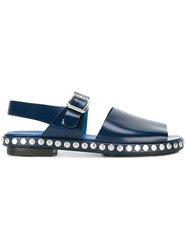 Kenzo Studded Sandals Men Leather 45 Blue