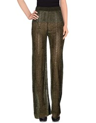 M Missoni Trousers Casual Trousers Women Military Green