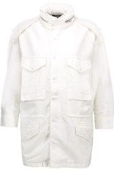 Nlst Cotton Blend Jacket White