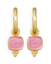 Pink Pegasus Goddess And Moon Intaglio Earring Pendants Elizabeth Locke